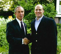 Mayor Bloomberg with Bruce Brodoff